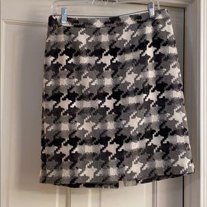 Multi color wool tweed skirt